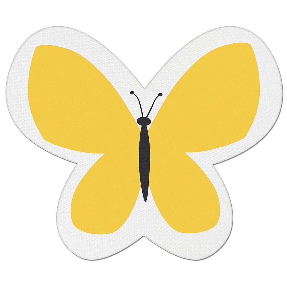 Žlutý dětský polštářek s příměsí bavlny Apolena Pillow Toy Butterfly, 26 x 30 cm