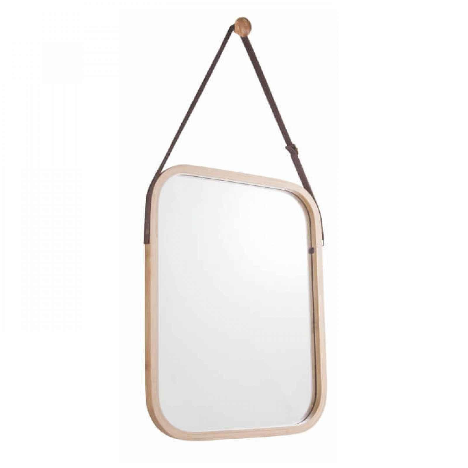 Závěsné zrcadlo LEMI 2 přírodní bambus Tempo Kondela