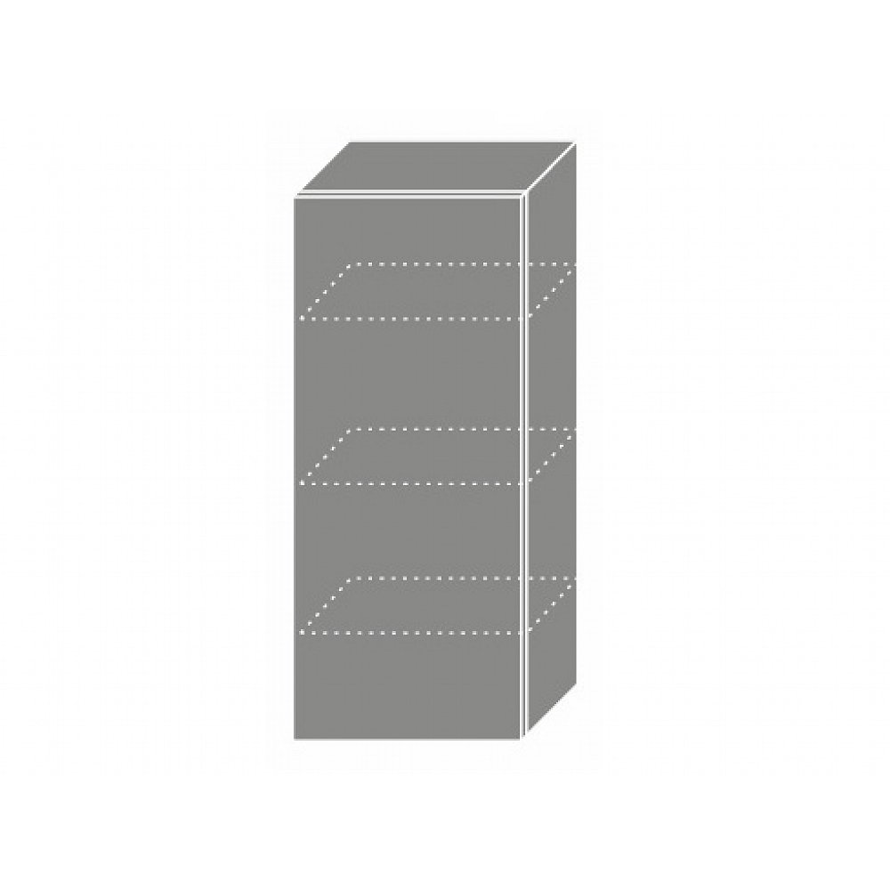 TITANIUM, skříňka horní W4 40, korpus: grey, barva: fino černé
