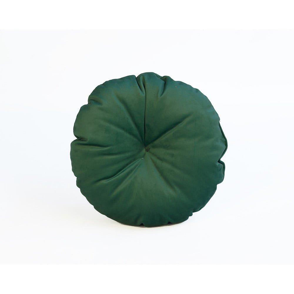 Zelený polštář z mikrovlákna Surdic Redondo, ø 45 cm