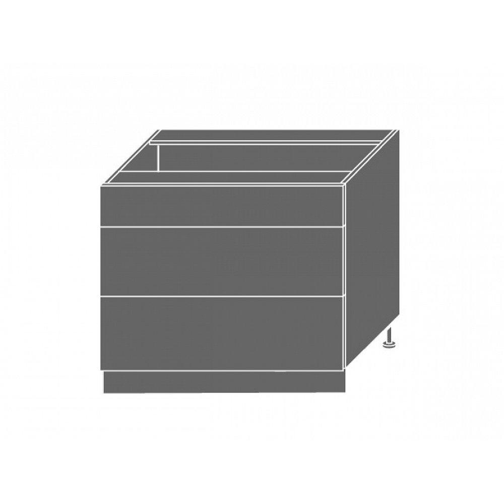 TITANIUM, skříňka dolní D3E 90, korpus: grey, barva: fino černé