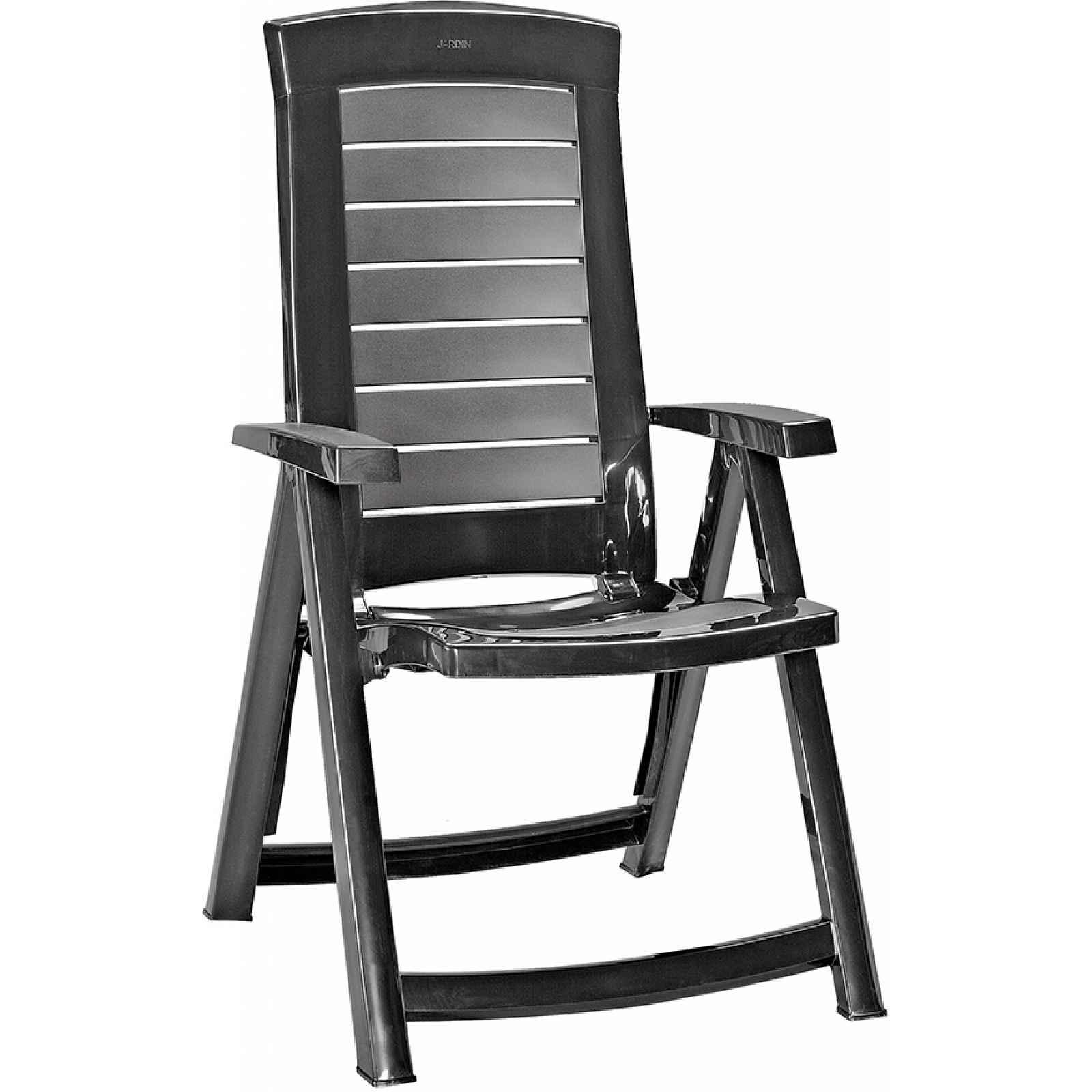 ARUBA polohovací židle - grafit Allibert