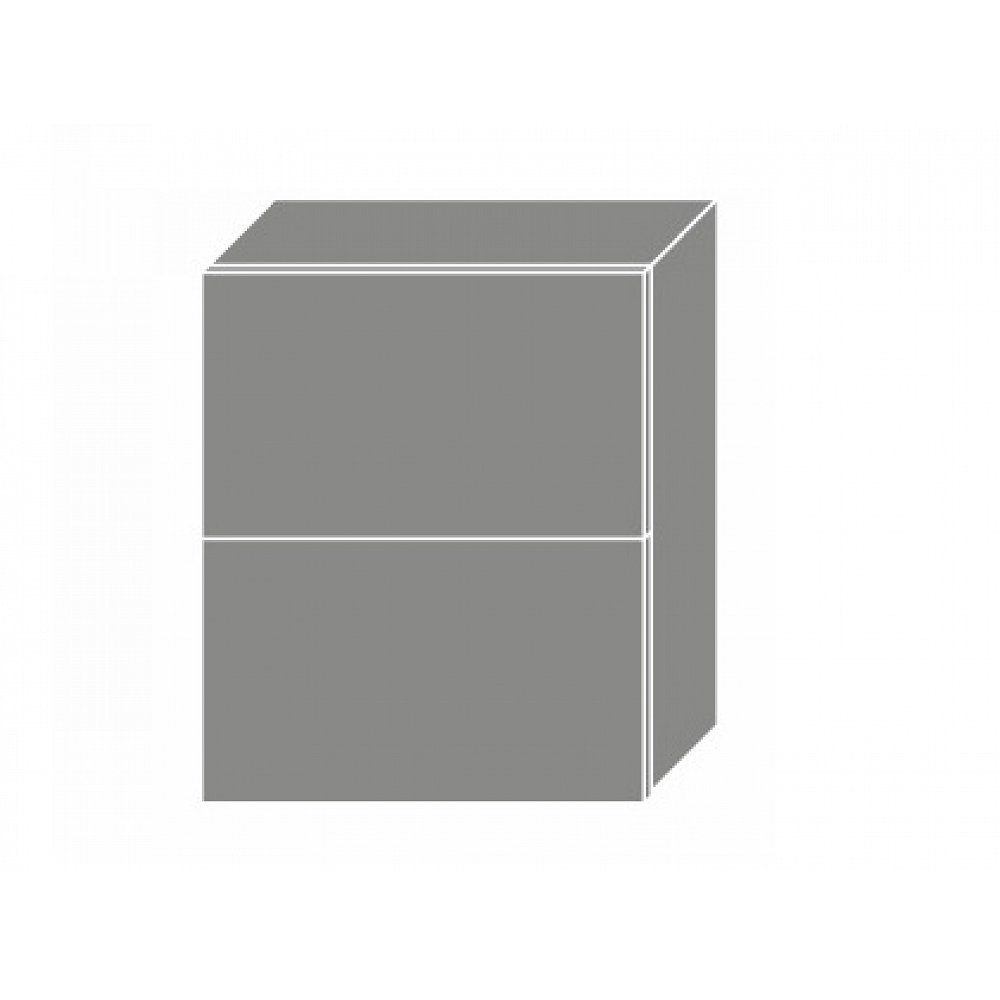 TITANIUM, horní skříňka W8B 60 AV, korpus: grey, barva: fino bílé