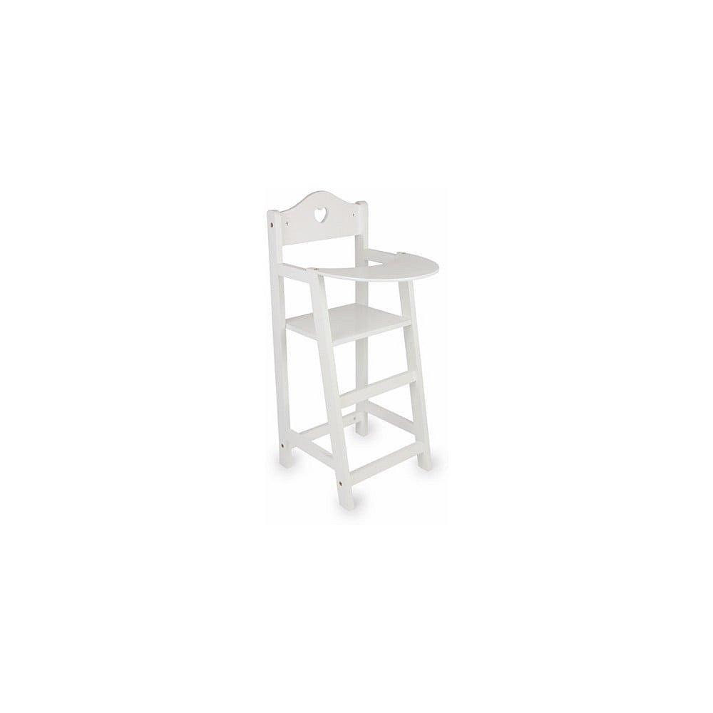 Bílá dřevěná židlička pro panenky Legler Doll's