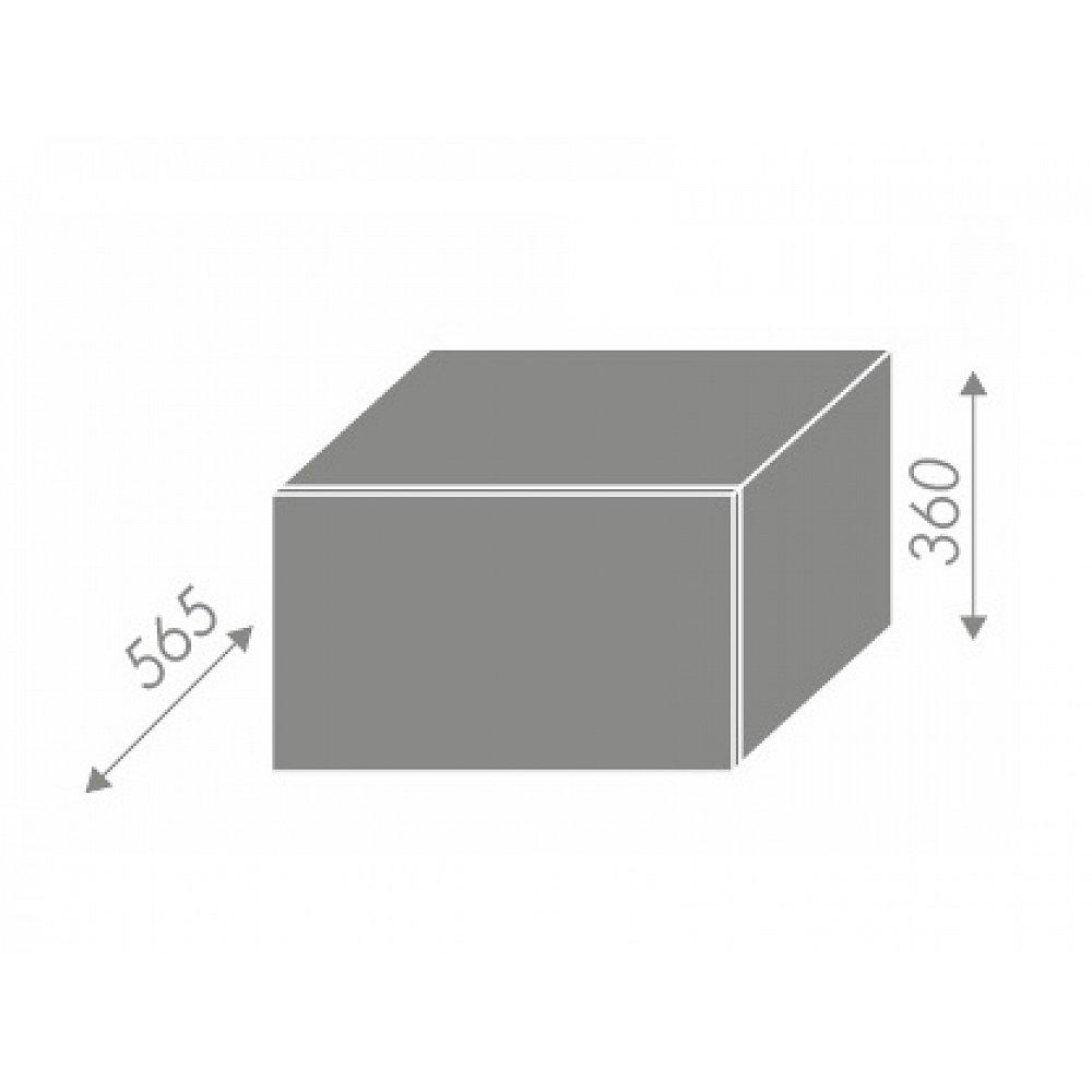 TITANIUM, skříňka horní W6B 60, korpus: bílý, barva: fino bílé
