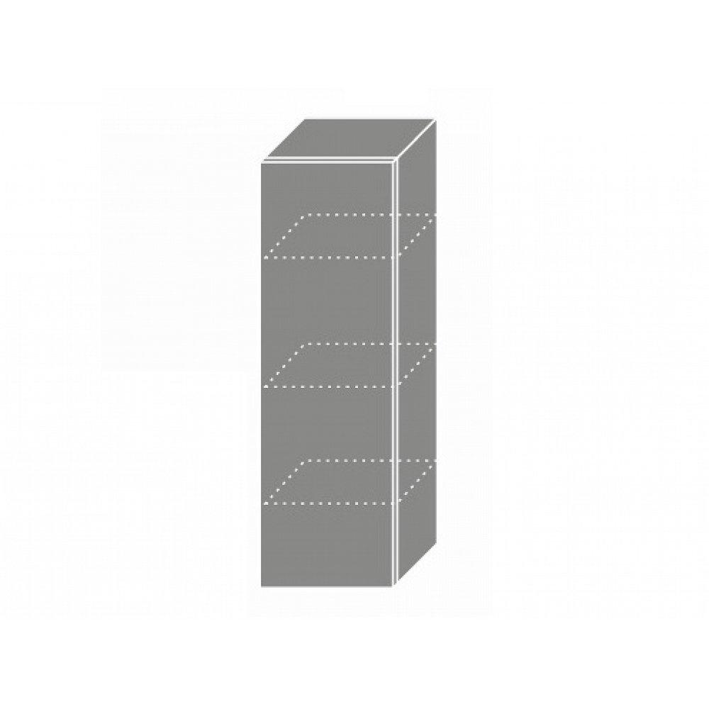 TITANIUM, skříňka horní W4 30, korpus: bílý, barva: fino černé