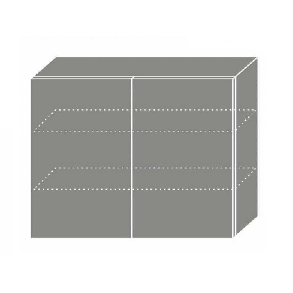 TITANIUM, skříňka horní W3 90, korpus: bílý, barva: fino černé