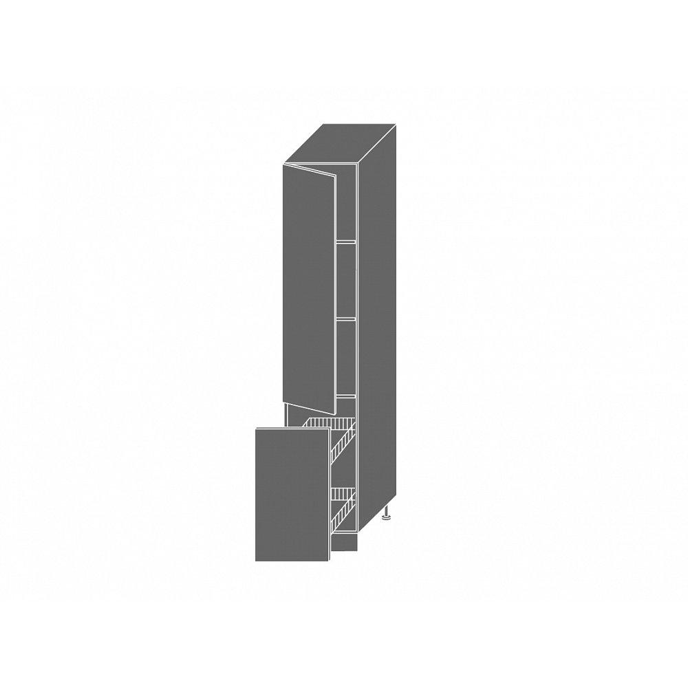 TITANIUM, skříňka potravinová 2D14k 40 + cargo, korpus: bílý, barva: fino černé