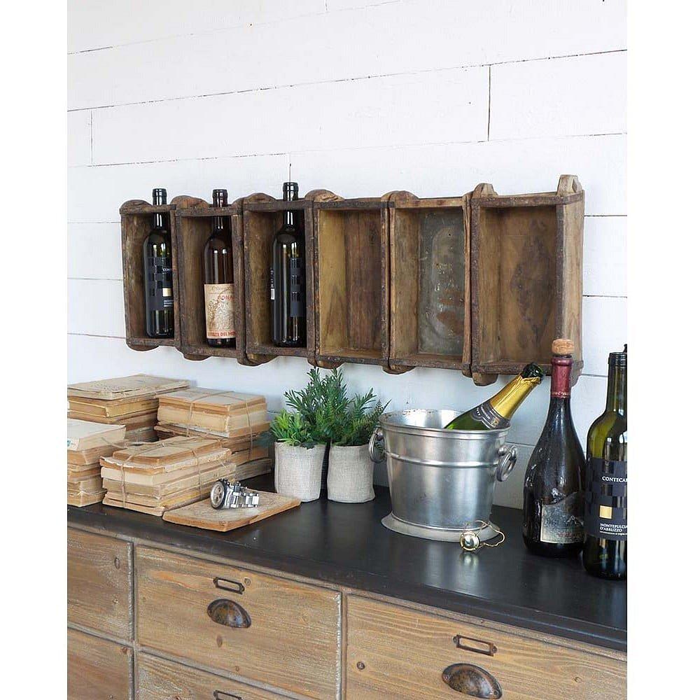 Dřevěný stojan na lahve od vína Orchidea Milano