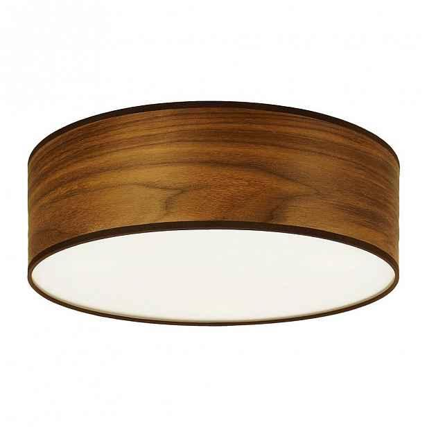 Stropní svítidlo z přírodní dýhy v barvě ořechového dřeva Sotto Luce TSURI,⌀30cm