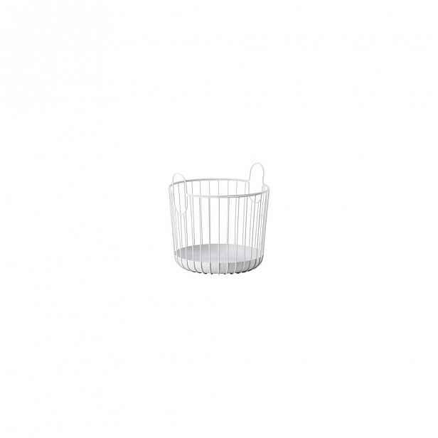 Bílý kovový úložný košík Zone Inu,ø30cm