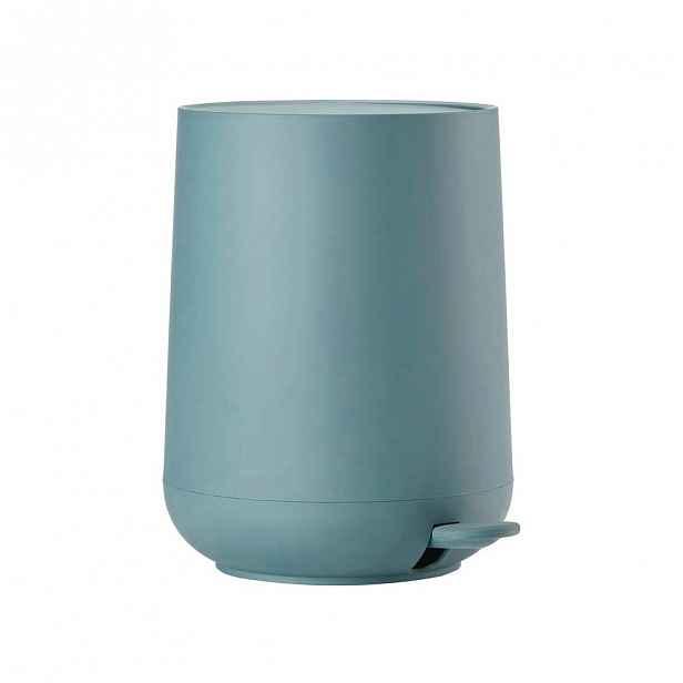 Tyrkysově modrý koupelnový pedálový koš Zone Nova,3l