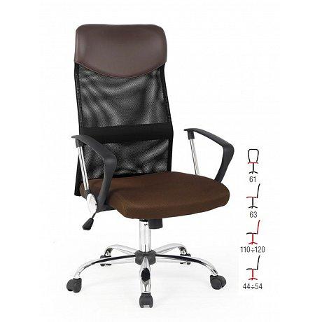 Kancelářské křeslo VIRE, hnědá/černá - 61 x 63 x 110-120 cm