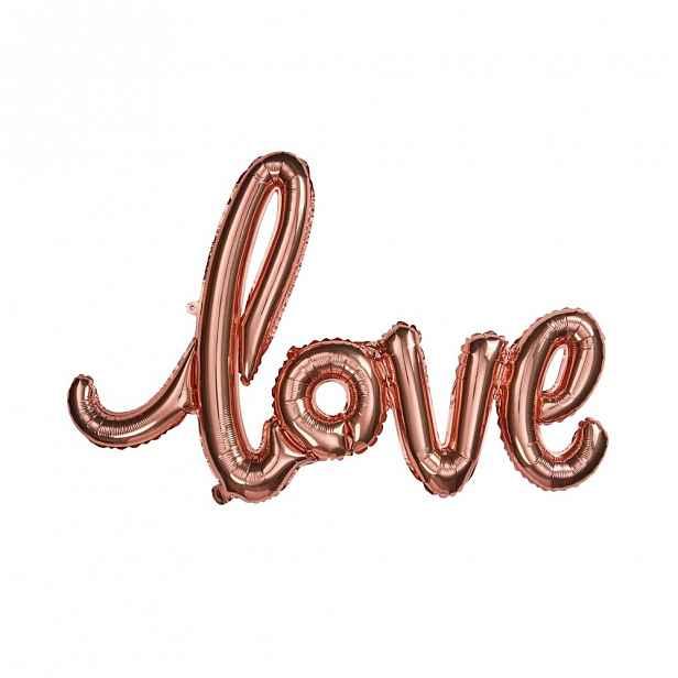 "Butlers UPPER CLASS Fóliový balónek ""LOVE"" - růžová zlatá"