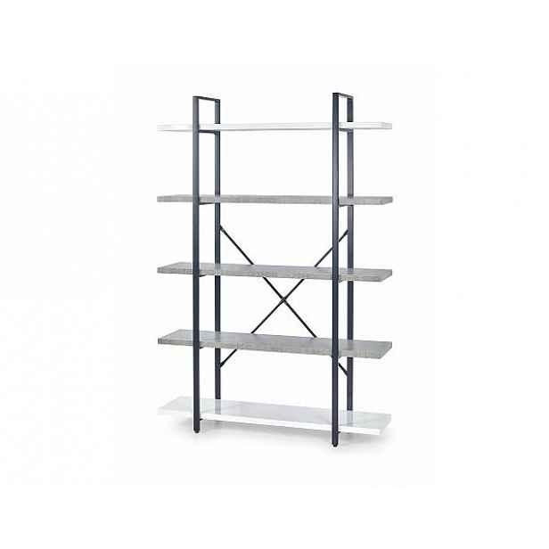 Regál STONNO REG2 bílá / beton Halmar