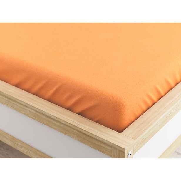 Froté prostěradlo meruňkové 180x200 cm Gramáž (hustota vlákna): Lux (190 g/m2)