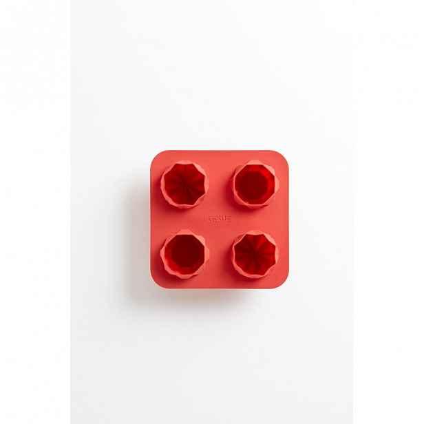 Červená silikonová forma na pečení Lékué Fortune Origami