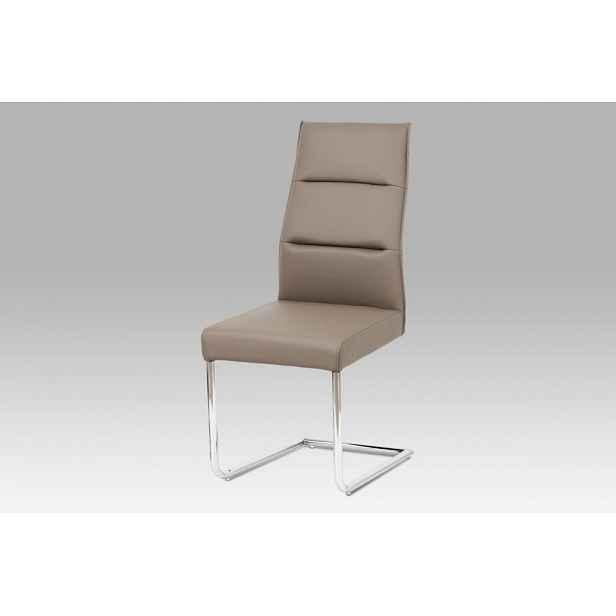 Jídelní židle WE-5033 CAP1 cappuccino / chrom Autronic