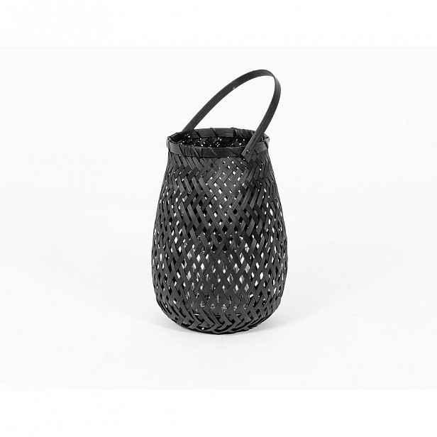 Černá bambusová lucerna Compactor Bamboo Lantern, ⌀ 18 cm