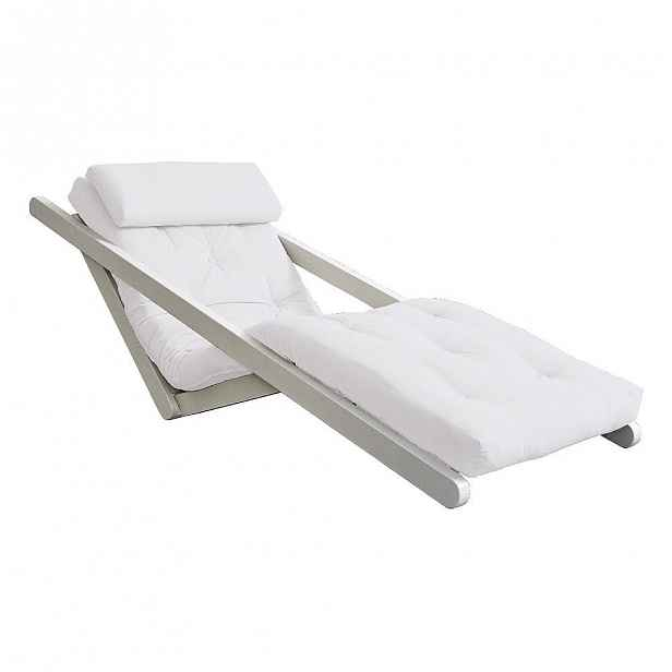 Variabilní lenoška Karup Design Figo White/Krémová