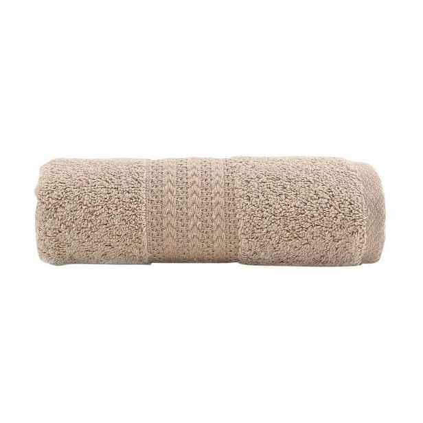 Hnědý bavlněný ručník Amy, 30x50 cm
