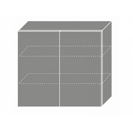 TITANIUM, horní skříňka W3 80, korpus: grey, barva: fino černé