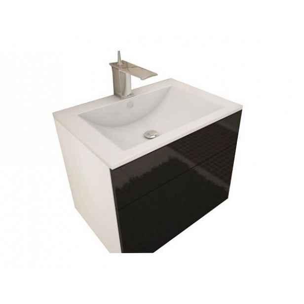 Skříňka pod umyvadlo MASON BL13, bílá / černý HG