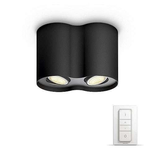 Svítidlo bodové 2×5,5W, Philips Hue Pillar černá