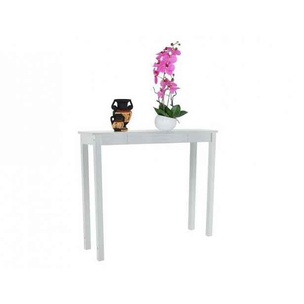 Konzolový stolek AMYNTAS, bílá