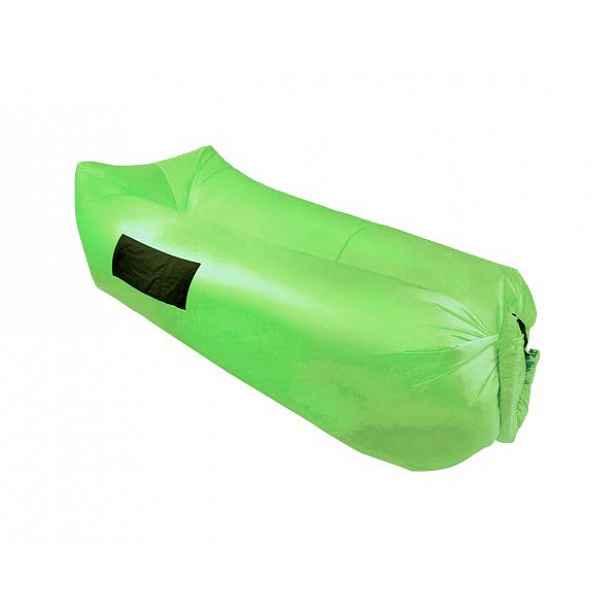 Nafukovací sedací vak/lazy bag LEBAG, zelená