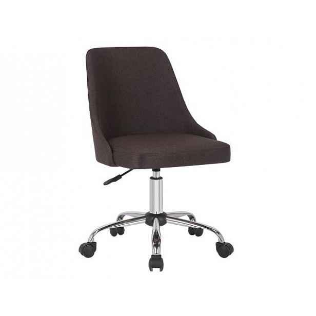Konferenční židle EDIZ, hnědá/chrom - 48x57x78-88 cm