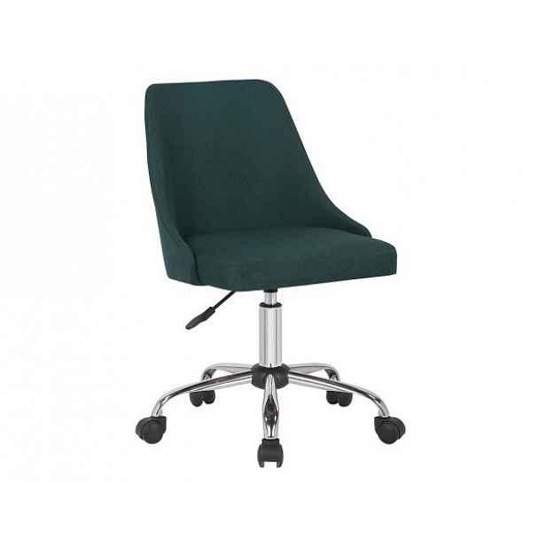 Konferenční židle EDIZ, smaragdová/chrom - 48x57x78-88 cm