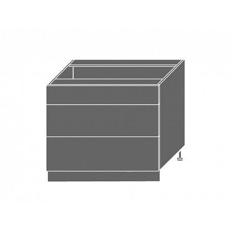 EMPORIUM, skříňka dolní D3E 90, korpus: lava, barva: light grey stone