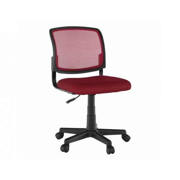 Otočná židle RAMIZA, tmavočervená/černá - 47x42x80 / 91 cm
