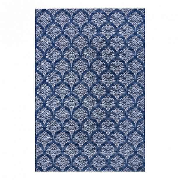 Modrý venkovní koberec Ragami Moscow, 80 x 150 cm