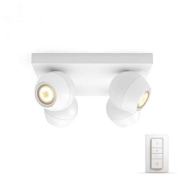 Svítidlo bodové 4×5,5W, Philips Hue Buckram bílá