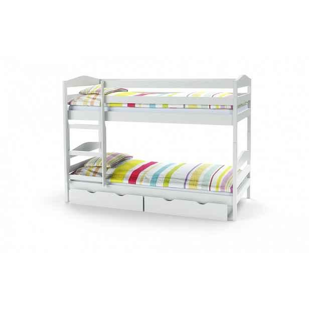 Dětská dvoupatrová postel SAM bílá Halmar
