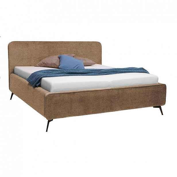 Moderano Čalouněná Postel, 180/200 Cm, Textil, Kompozitní Dřevo, Béžová - Čalouněné postele - 000504000109