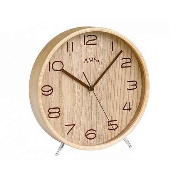 Designové stolní hodiny 5118 AMS řízené rádiovým signálem 22cm