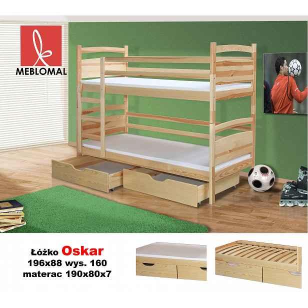 Dětská postel Oskar, masiv + matrace ZDARMA! HELCEL