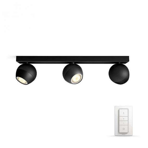 Svítidlo bodové 3×5,5W, PhilipsHue Buckram černá