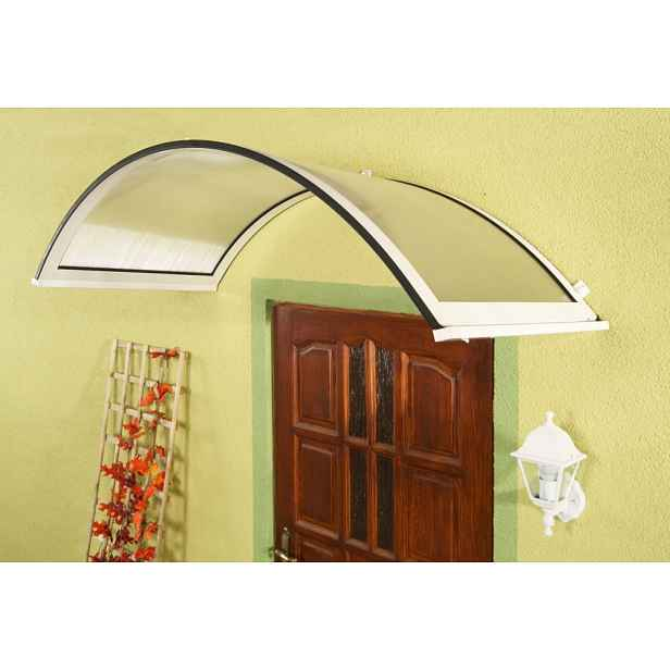 Oblouková stříška nad dveře ONYX 250/90 Dekorhome Bílá
