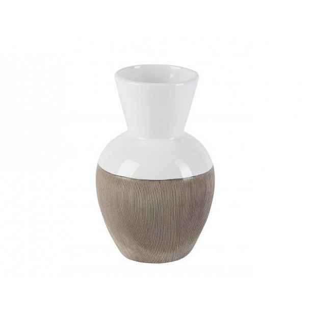 Bílá váza Rotund add