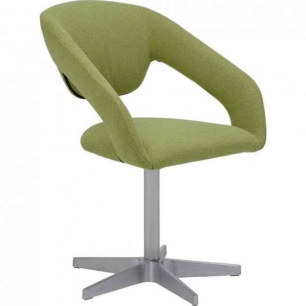 XXXLutz ŽIDLE S PODRUČKAMI, zelená, barvy nerez oceli Dieter Knoll - Čalouněné židle - 000347004902