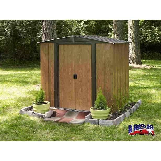 Kovový zahradní domek 194 x 151 cm