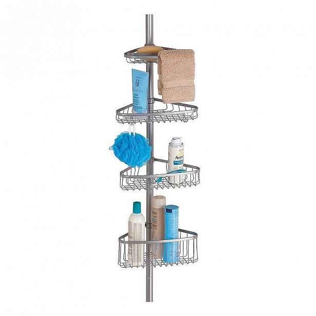 Rohová koupelnová teleskopická polička iDesign York