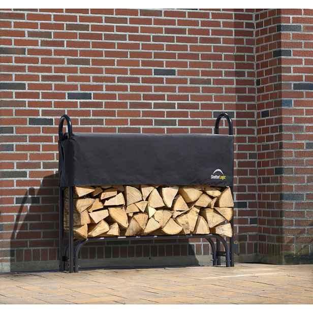 Dřevník 126 x 25 x 118 cm černá