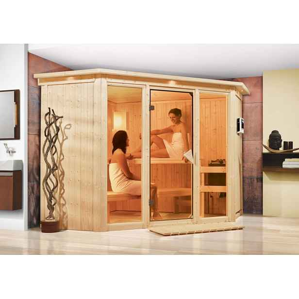 Interiérová finská sauna 245 x 245 cm Dekorhome