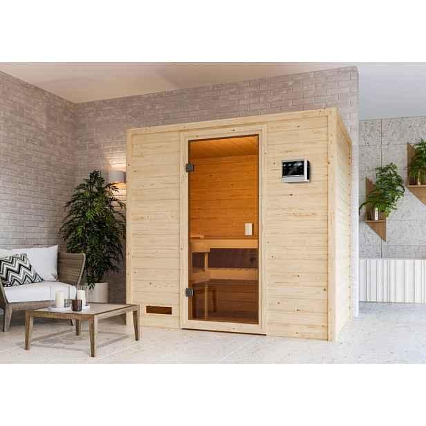 Interiérová finská sauna 195 x 145 cm Dekorhome