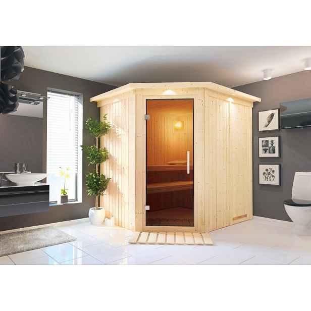 Interiérová finská sauna 196 x 170 cm Dekorhome
